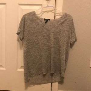 Size small forever 21 grey flow tee with v neck
